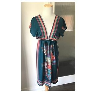 Flying Tomato printed dress size small